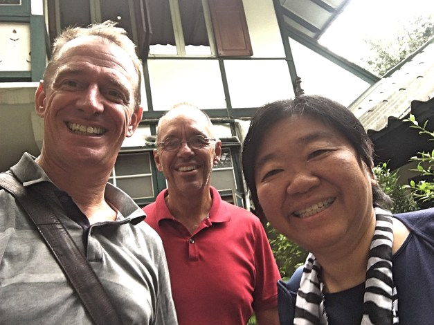 And yes, we did meet a friend for lunch at Tummy Yummy. Just after we got to Bangkok Mark saw on Facebook that Lin Liu, an old graduate school classmate, was on her way for her US AID work. So we made lunch plans and caught up on the last 28 years or so.