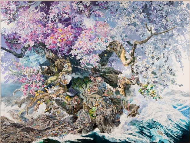 Manabu Ikeda's Rebirth. Over three years in the making, it's drawn in painstaking detail in pen.