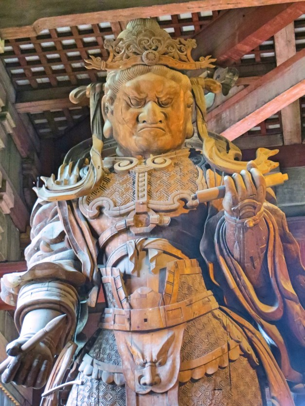 One of the Buddha's top guys protecting him at Todai-ji