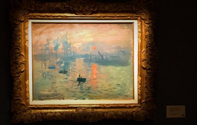 "Monet's seminal ""Impression, Sunrise"""