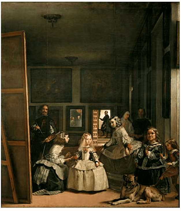 This is Las Meninas (The Maids of Honor), the most famous painting by 17th century Spanish painter Diego Velázquez. Why is it here? Read on.