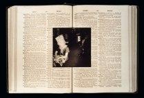 Historia Occulta (Secret History) artists book using found materaials, original photographic prints, damaged prints and handwriting (alternate version)