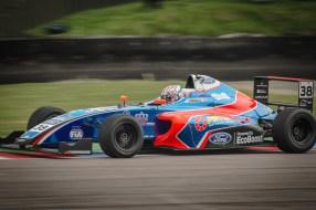 Formula 4 Car at Thruxton Chicane