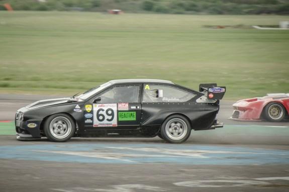 Alfa Romeo GTV6 Making Hard Work of the Thruxton Chicane