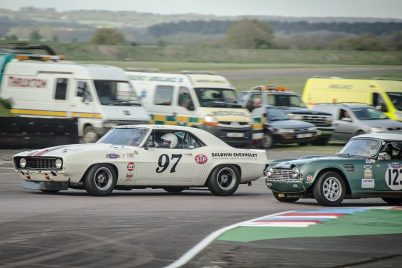 Chevrolet Camero Passing in the Chicane at Thruxton