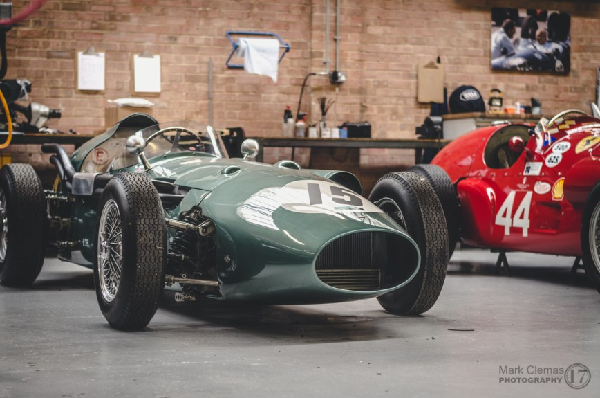 Aston Martin Grand prix Classic Car at Bicester Heritage Sunday Scramble