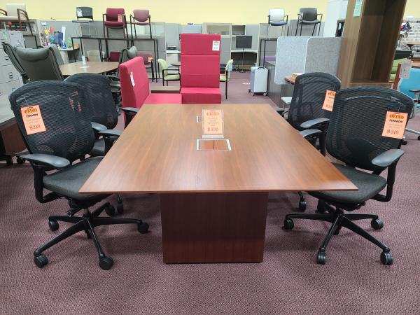 6' x 4' Solid Veneer Conference Table