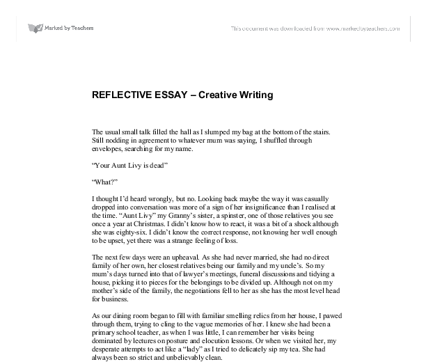 example of reflective essay on self central limited a g e reflective