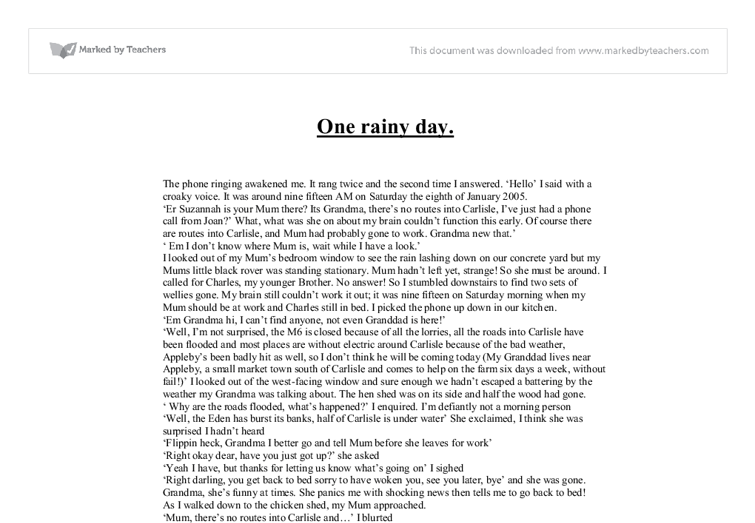 best A Short Essay On A Rainy Day image collection