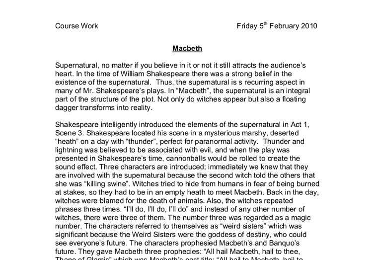 macbeth essay introductory paragraph