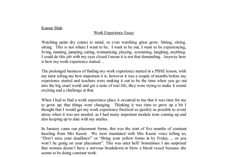 narrative essay of personal experience  · how to write a narrative essay think of a personal experience you can share that relates to the prompt if you are not writing for school.