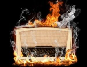 1960s radio on fire