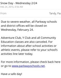 snow day notification