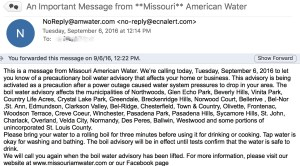 water boil email