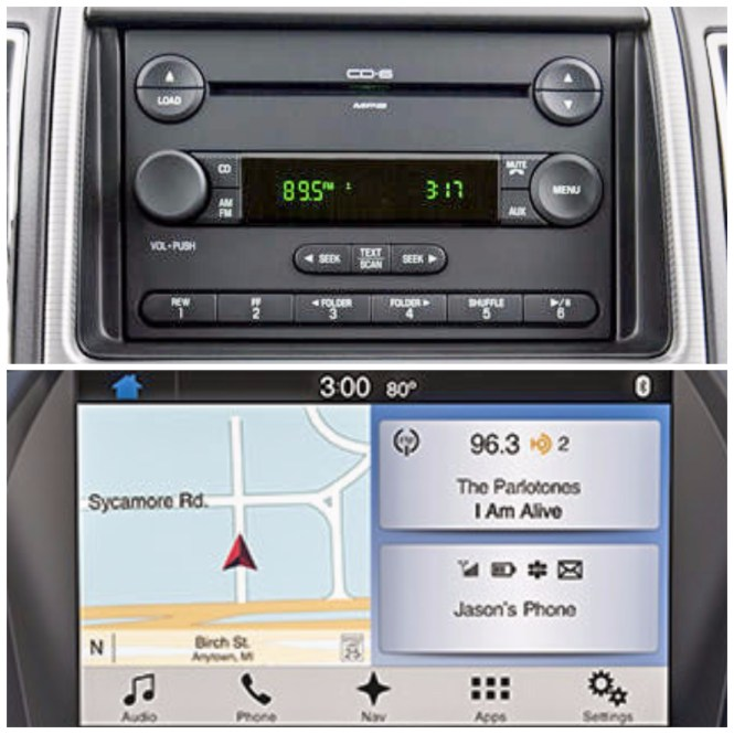 2007 and 2017 Ford Radios