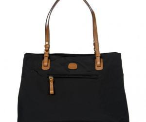 Brics X-Bag Shopping Shopper Mit Zusätzlichem Trageriemen 40 cm – schwarz