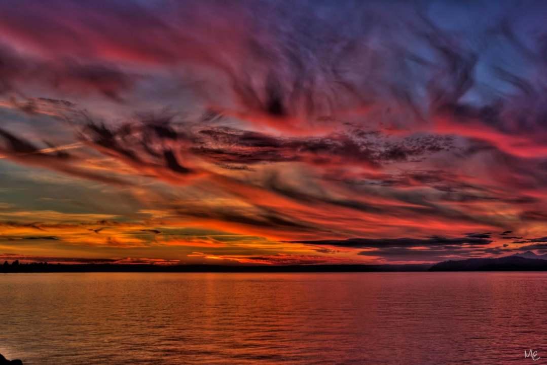 Mark Epstein Photo   Sunset Over Elliot Bay