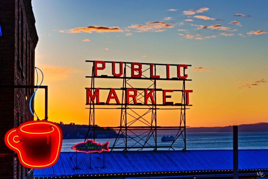 Mark Epstein Photo   Sunset at the Market