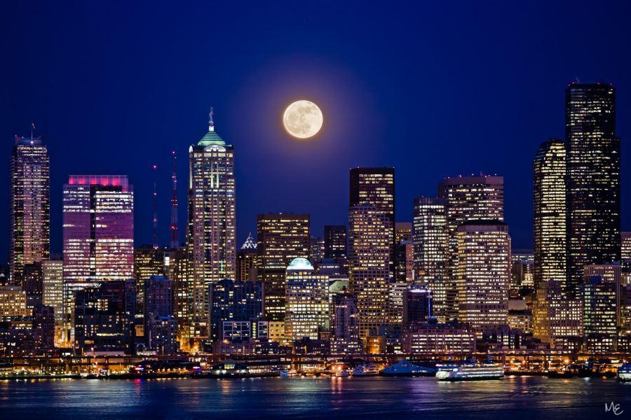 Mark Epstein Photo | Seattle Super Moon
