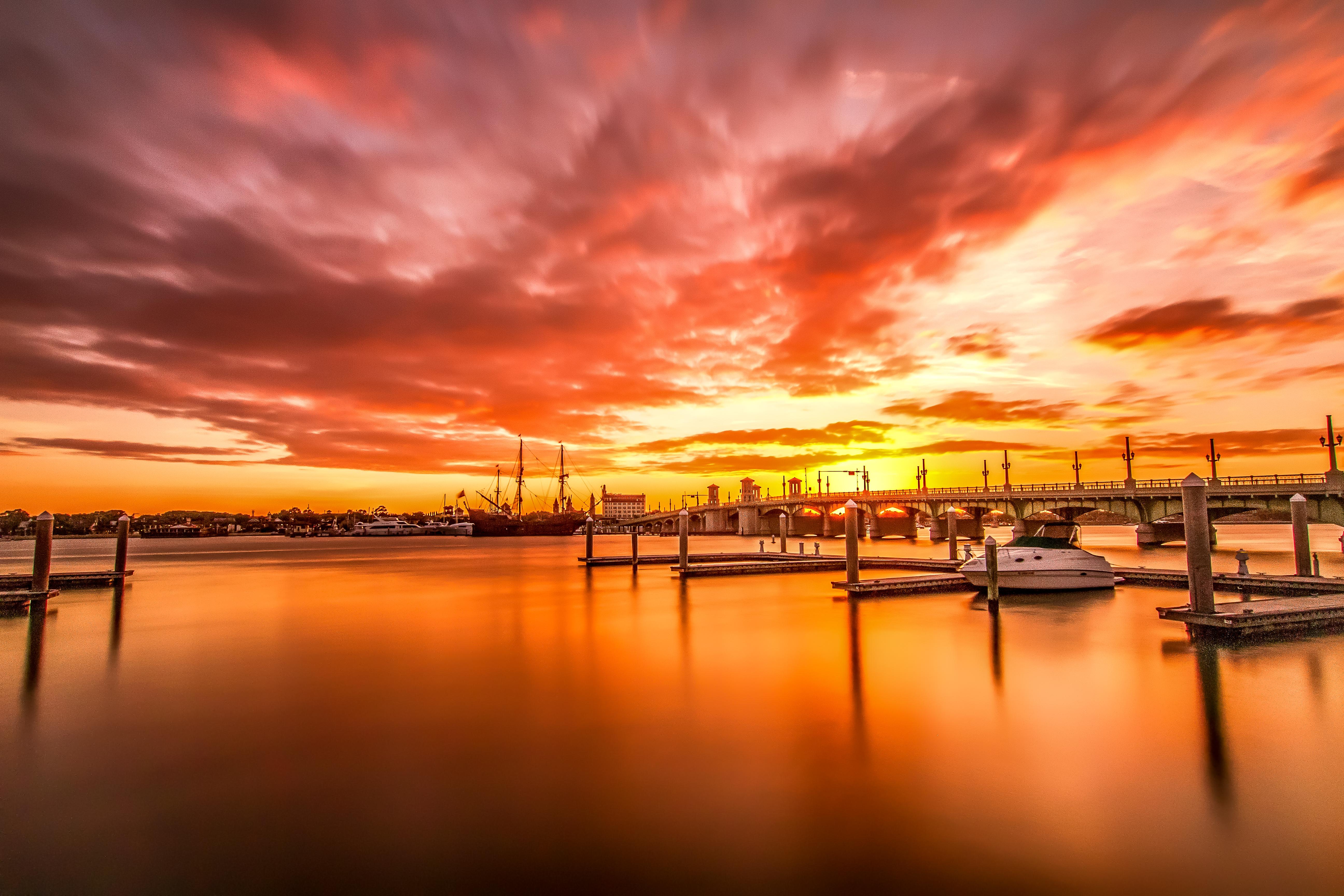 Sunset view of Marina