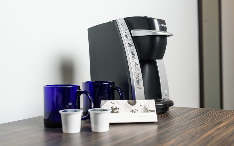 Keurig coffee maker in all rooms
