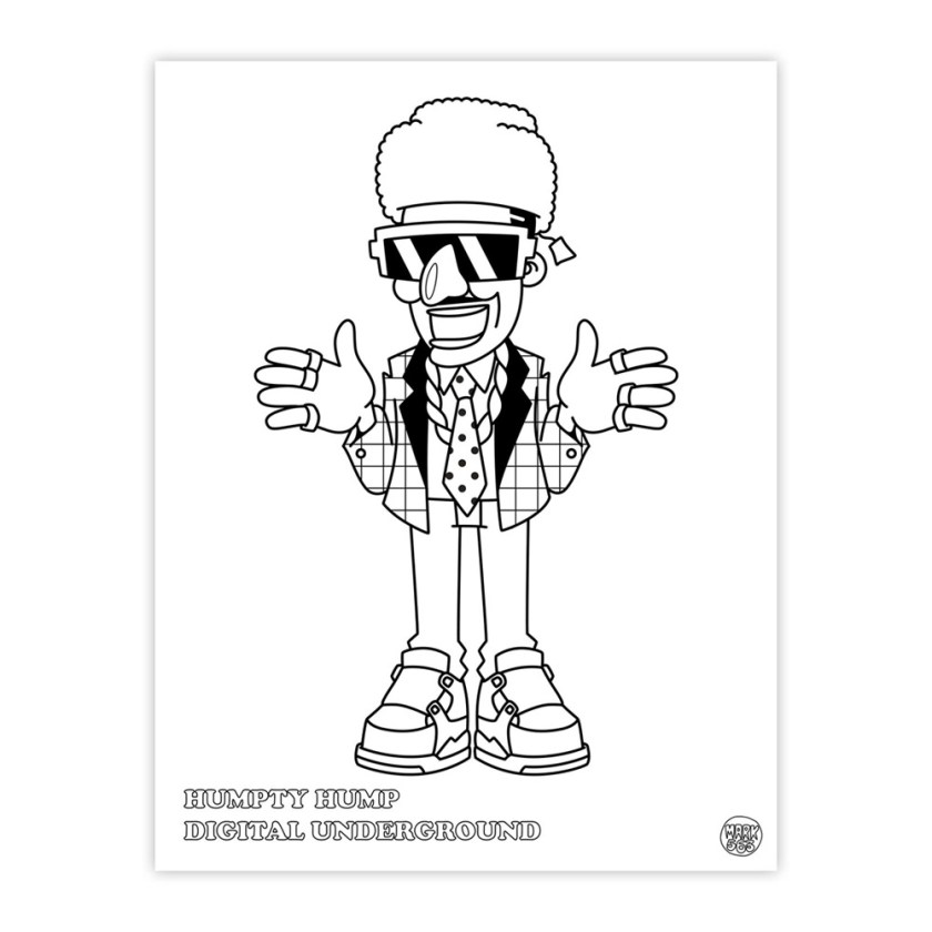 hiphop coloring book – markersnpens