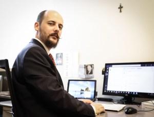 Arnaud Markert à son bureau