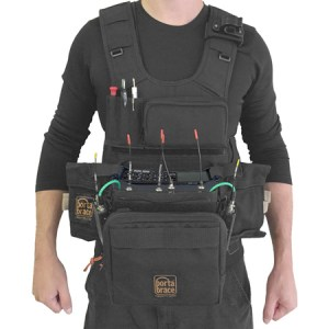 PortaBrace ATV Z8 Audio Tactical Vest for the Zoom F8 Recorder   Black