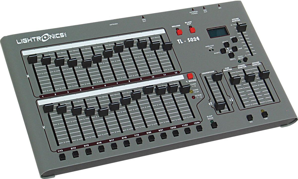 https www markertek com product lgt tl5024 dmx01 lightronics tl 5024 24 ch lighting control console w dmx 512 option