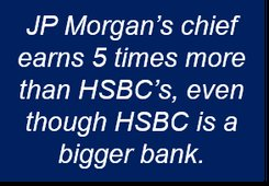 HSBC and JP Morgan bosses' pay.