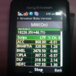 Realtime BSE-Sensex Streamer Mobile Application
