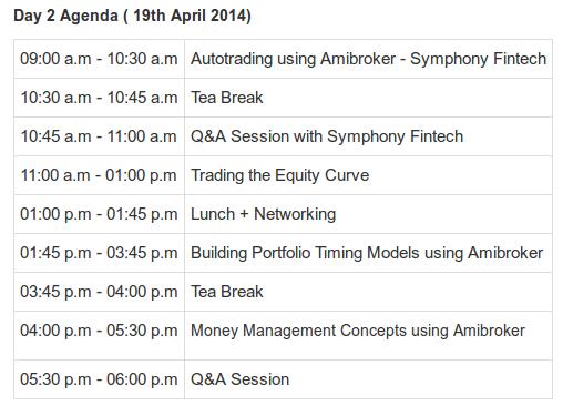 Day 2 agenda