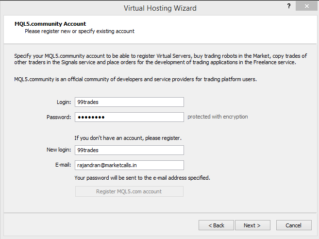 Virtual Hosting wiz setup