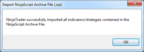 Import Ninja Success Message
