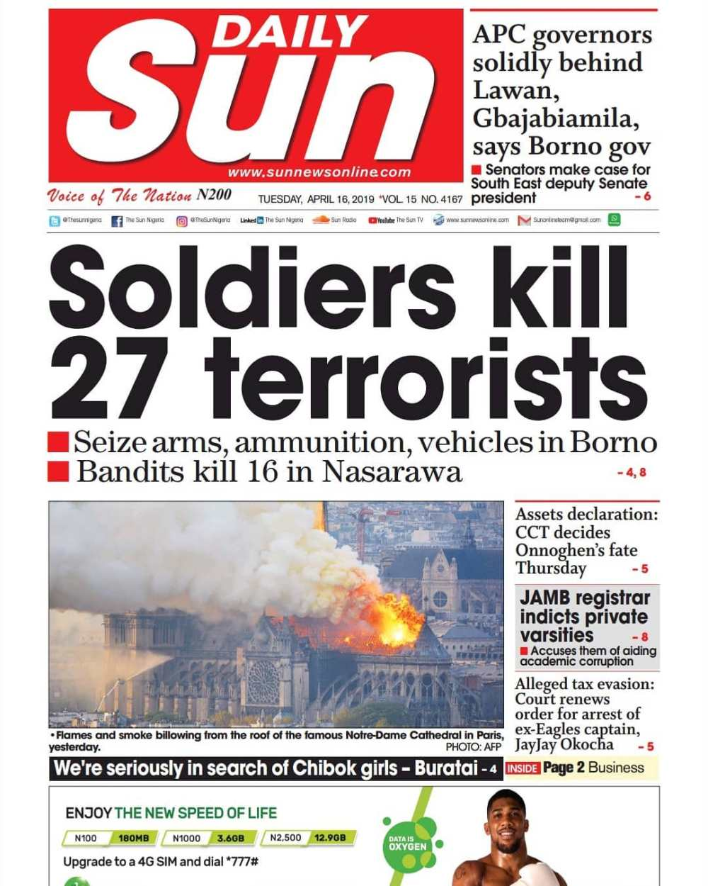 Soldiers kill 27 terrorists