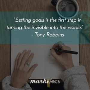 Setting Goals | Writing your goals down