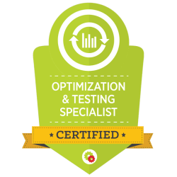 Digital Marketer Optimization and Testing Specialist Certification
