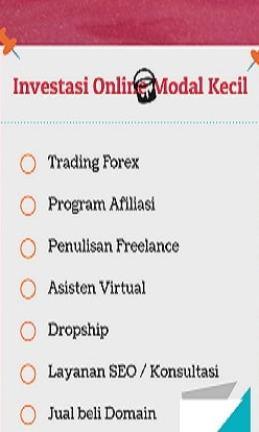 investasi online modal kecil