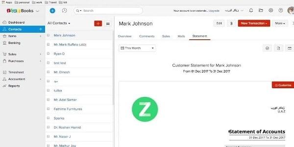 Zoho Books- software akuntansi online terbaik
