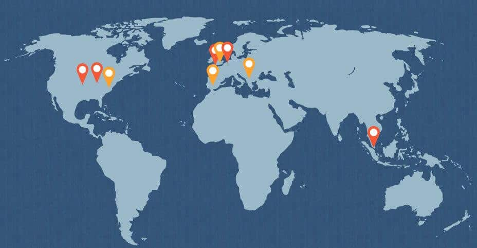 SiteGround offices and data centers around the world