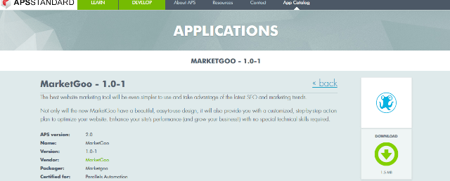 MarketGoo is APS certified