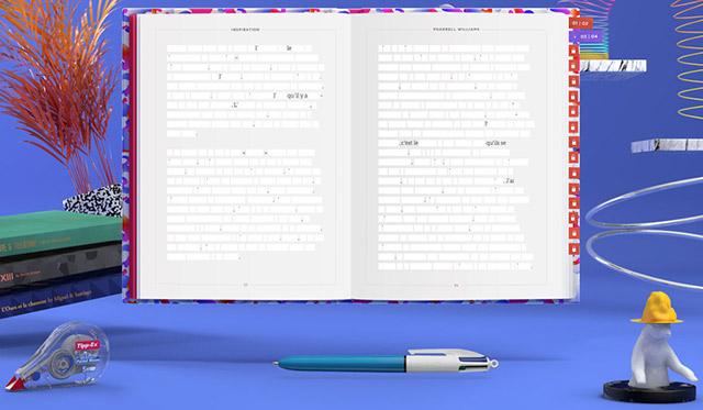 Tipp-Ex a effacé le livre de Pharell Williams mais propose avec Bic et les internautes de retrouver son contenu.