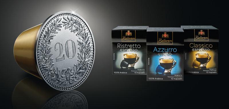 Lidl Suisse s'apprête à lancer trois références de dosettes compatibles Nespresso à sa marque.