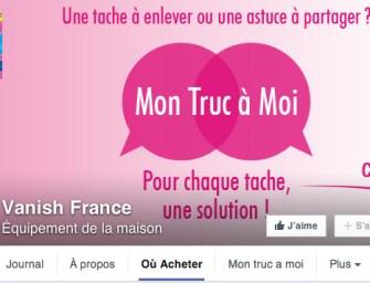 Vanish : première marque grande conso a vendre via Facebook
