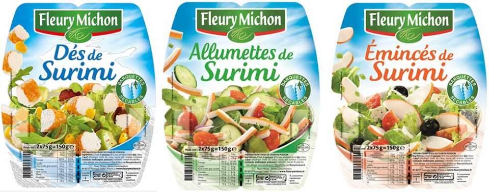 Les aides culinaires surimi de Fleury Michon sortiront en linéaire en avril 2015.