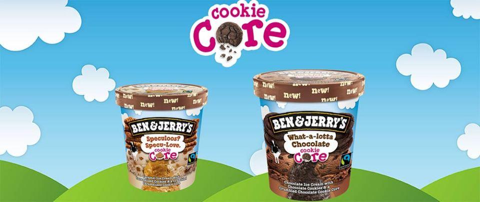 Ben & Jerry's a présenté sur le marché français la nouvelle déclinaison de sa gamme Core, avec un coeur de cookie.
