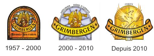Evolution du logo Grimbergen de sa création jusqu'à nos jours
