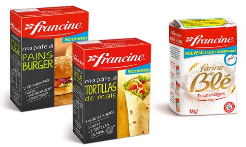Francine propose depuis avril un sachet refermable sans fuite et agrandit sa gamme de préparation avec deux codes.