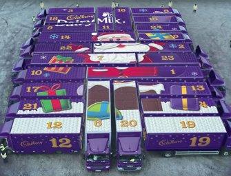 Le plus grand calendrier de l'avent du monde, signé Cadbury