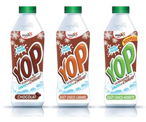 En 2015, Yop a élargit sa gamme chocolat de 2 références et pousse la consommation à froid comme chaud.
